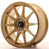 "Jante JAPAN RACING JR11 17"" x 7,25"" 5x100 5x114,3 ET 35 Gold"