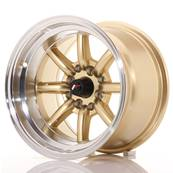 "Jante JAPAN RACING JR19 14"" x 9"" 4x100 4x114,3 ET -25 Gold"
