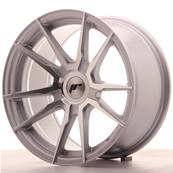 "Jante JAPAN RACING JR21 17"" x 9"" Multi Perçage ET 25-35 Machined Face Silver"