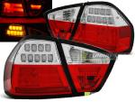 Paire de feux arriere BMW serie 3 E90 Berline 05-08 LED BAR rouge blanc