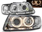 Paire de feux phares Audi A3 8L 00-03 angel eyes chrome