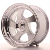 "Jante JAPAN RACING JR15 15"" x 8"" Multi Perçage ET 20 Machined Face Silver"