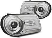 Paire de feux phares Chrysler 300C 05-10 Daylight LTI chrome (H21)