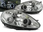 Paire de feux phares Fiat Grande Punto 05-08 angel eyes chrome