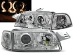 Paire de feux phares Fiat Punto 93-99 angel eyes chrome