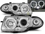 Paire de feux phares Opel Astra F 91-94 angel eyes chrome