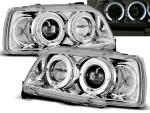 Paire de feux phares Renault Clio 90-95 angel eyes chrome