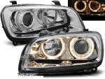 Paire de feux phares Toyota RAV4 94-00 angel eyes chrome