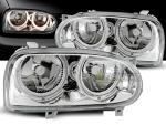 Paire de feux phares VW Golf 3 91-97 angel eyes chrome