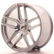 "Jante JAPAN RACING JR25 20"" x 10"" Multi Perçage ET 20-40 Silver Machined Face"