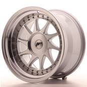 "Jante JAPAN RACING JR26 17"" x 10"" Multi Perçage ET 0-25 Silver Machined Face"