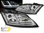 Paire de feux phares Audi TT 8J 2006-2010 Daylight led chrome Halogène