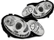 Paire de feux phares Mercedes CLK W209 03-10 Daylight led chrome (EA5)
