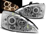 Paire de feux phares Ford Focus 98-01 angel eyes chrome