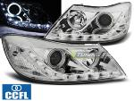 Paire de feux phares Skoda Octavia 09-12 Angel Eyes CCFL chrome