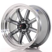 "Jante JAPAN RACING JR19 15"" x 8"" 4x108 4x100 ET 0 Gun metal"