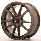 "Jante JAPAN RACING JR21 17"" x 7"" Multi Perçage ET 25-40 Bronze"