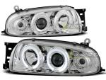 Paire de feux phares Ford Fiesta MK4 95-99 angel eyes chrome
