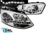 Paire de feux phares VW Polo 6R 09-14 Daylight DRL led chrome