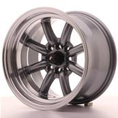 "Jante JAPAN RACING JR19 15"" x 9"" 4x100 4x108 ET -13 Gun metal"