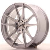 "Jante JAPAN RACING JR21 17"" x 8"" 4x100 4x108 ET 25 Silver Machined Face"