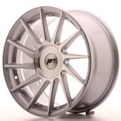 "Jante JAPAN RACING JR22 17"" x 8"" Multi Perçage ET 35 Machined Face Silver"