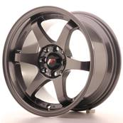 "Jante JAPAN RACING JR3 15"" x 8"" 4x108 4x100 ET 25 Gun metal"