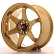 "Jante JAPAN RACING JR3 16"" x 8"" 4x108 4x100 ET 25 Gold"