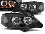 Paire de feux phares Opel Astra G 97-04 angel eyes noir