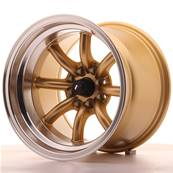 "Jante JAPAN RACING JR19 15"" x 10,5"" 4x100 4x114,3 ET -32 Gold"