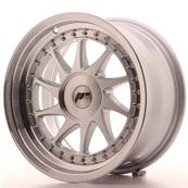 "Jante JAPAN RACING JR26 16"" x 8"" Multi Perçage ET 10-30 Machined Face Silver"