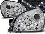 Paire de feux phares Hyundai Tucson 04-10 Daylight led chrome
