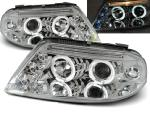 Paire de feux phares VW Passat 3BG 00-05 angel eyes chrome