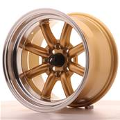 "Jante JAPAN RACING JR19 15"" x 9"" 4x100 4x114,3 ET -13 Gold"