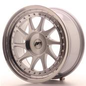 "Jante JAPAN RACING JR26 17"" x 8"" Multi Perçage ET 35 Machined Face Silver"