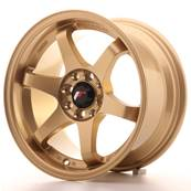 "Jante JAPAN RACING JR3 15"" x 8"" 4x100 4x114,3 ET 25 Gold"