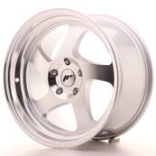"Jante JAPAN RACING JR15 17"" x 9"" Multi Perçage ET 25 Silver Machined Face"
