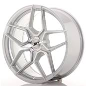 "Jante JAPAN RACING JR34 20"" x 9"" Multi Perçage ET 20-40 Silver Machined Face"
