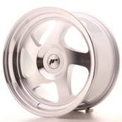 "Jante JAPAN RACING JR15 16"" x 8"" Multi Perçage ET 25 Machined Face Silver"