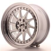 "Jante JAPAN RACING JR26 16"" x 8"" 4x108 4x100 ET 25 Silver Machined Face"