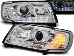 Paire de feux phares Audi 100 C4 90-94 Daylight LED Chrome