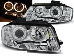 Paire de feux phares Audi A3 8P 03-08 angel eyes chrome