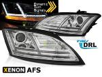 Paire feux phares Audi TT 8J 10-14 Daylight led DRL chrome Xenon