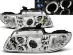 Paire de feux phares Chrysler Voyager 96-01 angel eyes chrome