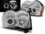 Paire de feux phares Jeep Grand Cherokee 08-10 angel eyes chrome