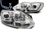 Paire de feux phares Ford Focus MK3 11-14 Daylight led chrome (O60)