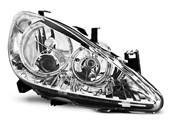 Paire de feux phares Peugeot 307 01-05 angel eyes chrome (E04)