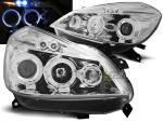 Paire de feux phares Renault Clio 3 05-09 angel eyes chrome