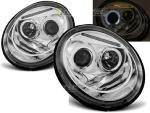 Paire de feux phares VW New Beetle 98-05 angel eyes chrome