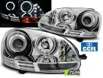 Paire de feux phares VW Golf 5 03-09 angel eyes CCFL chrome